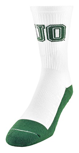 NCAA (Team) Premium Made in the USA Kids Champ Performance Socks, White