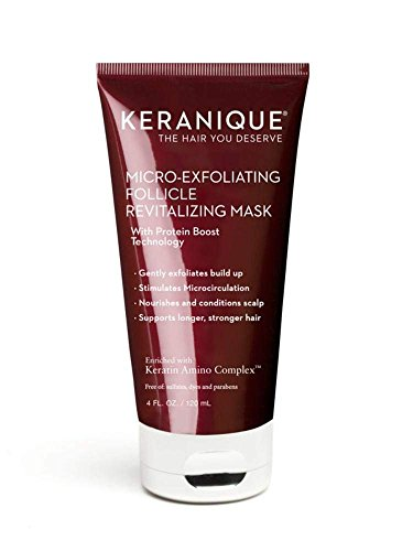 (Keranique Micro-Exfoliating Follicle Revitalizing Mask, 4 Fl Oz – Keratin Amino Complex, Sulfate, Dyes and Parabens Free | Exfoliates, Nourish and Condition the Scalp, Supports Longer, Stronger Hair)