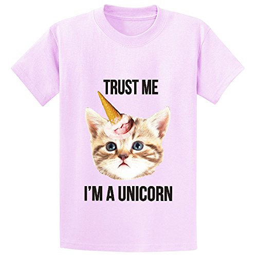Price comparison product image Chas Trust Me Unicorn Kid's Crew Neck Print Shirts Pink