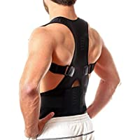 BLOOM HOUSE™ Unisex Magnetic Back Brace Posture Corrector Therapy Shoulder Belt for Lower and Upper Back Pain Relief, posture corrector men for women,back support belt for back pain - Free Size