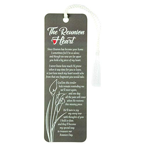 The Reunion Heart Floral Speckled Taupe Cardstock Tassel Bookmarks, Pack of - Bookmark Reunion Heart