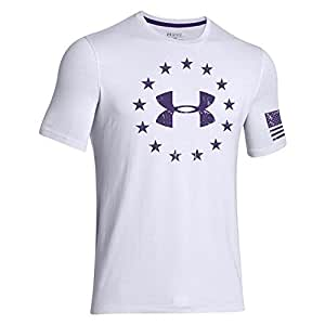 Under Armour Freedom T-Shirt (XX-Large, White/Purpleheart)