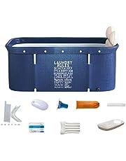 YYID Adult Folding Bathtub, Portable Non-Inflatable Bathtub - Folding Bath Tub, Household Freestanding Thick Plastic Folding Bath Tub for Adults, Sauna Steam Bathtub Adult Bath Bucket