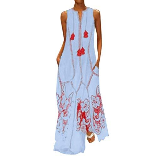 iHPH7 Dress Off Shoulder Loose Plain Maxi Dresses Casual Long Dresses Slash Neck Mini Dress Self Belted Ruched Evening Party Dress Women (S,10- Blue)