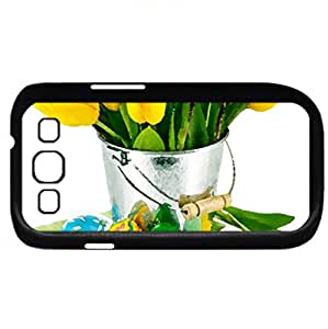 Yellow Tulips (Flowers Series) Watercolor style - Case Cover For Samsung Galaxy S3 i9300 (Black)