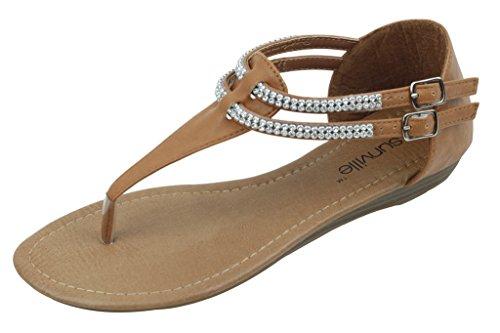 Up Brand Starbay Gladiator Women's New Sandals Fashion 1018 Camel Zip PSxwZnZ