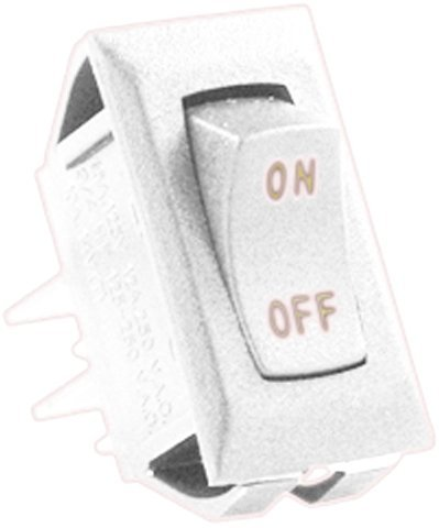 JR Products (12611-5 Ivory/Gold 12V On/Off Switch, (Pack of 5)