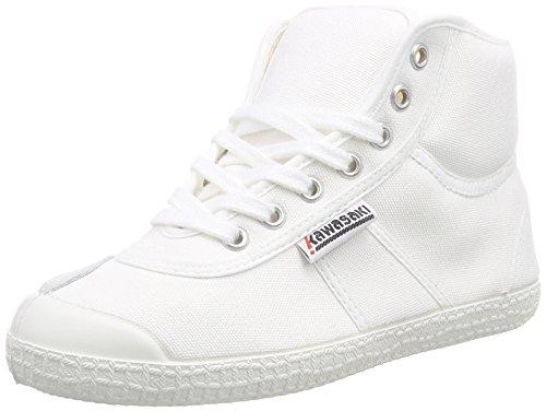 Base Arc-en-kawasaki Unisexe Adulte Haut Chaussures De Sport Blanc (blanc, 01)