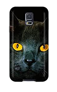 New Style Hard Case Cover For Galaxy S5- Black Cat