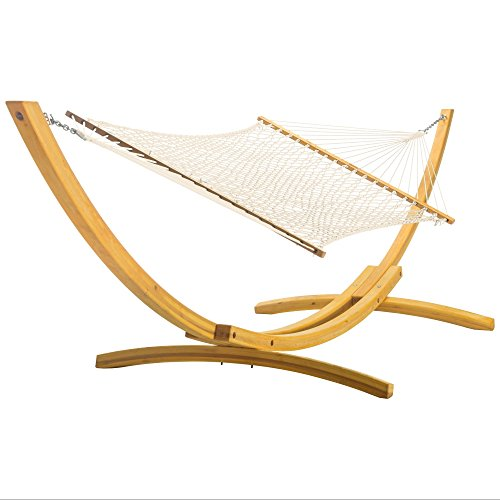 Nags Head Hammocks DuraCord Double Rope Hammock - Oatmeal (Duracord Hand Rope Woven Hammock)