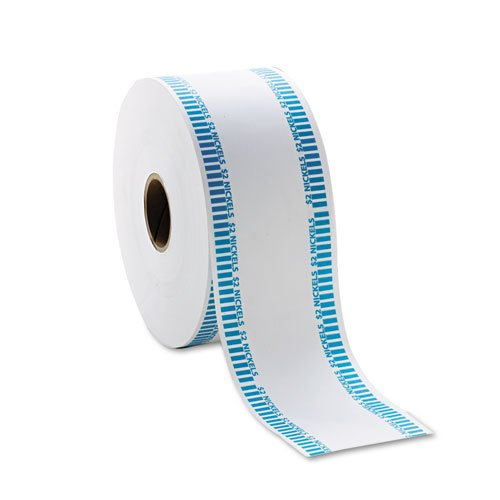 Mmf Automatic Coin - MMF Industries 2160651B08 Automatic Coin Rolls, Holds 40 Nickels,White/Blue, Approx. 1900/roll