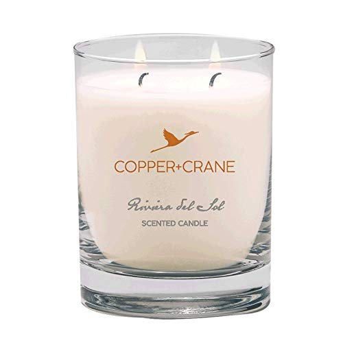 COPPER+CRANE Luxury Scented Candle | Vanilla and Floral Bouquet | long lasting up to 45 hours burn time | hand-placed double wick | 9.5 oz.