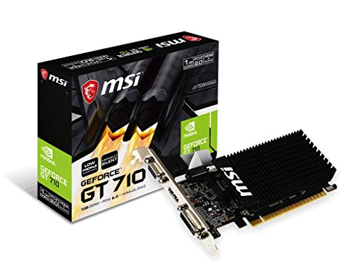 MSI Gaming GeForce GT 710 1GB GDRR3 64-bit HDCP Support DirectX 12 OpenGL 4.5 Heat Sink Low Profile Graphics Card (GT 710 1GD3H ()