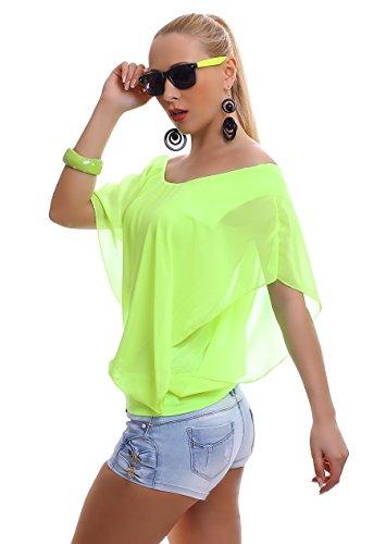 WeaModa - Camisa deportiva - para mujer Neon giallo