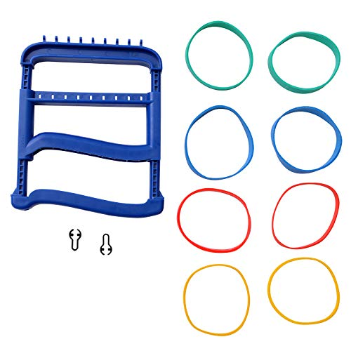 Rolyan Basic Ergonomic Hand Exerciser, Strengthening Device for Fingers, Hands, and Thumbs, Comes with 4 Pairs of Graded Rubber Bands with Progressive Difficulty, Blue ()