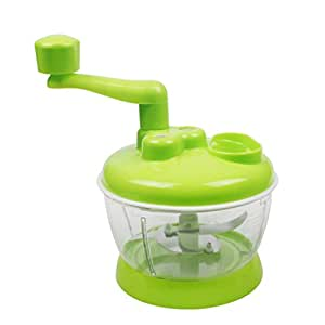 Happy Hours® Multi-function Manual Hand Operated Kitchen Complete Food Processor Mixer Blender Chopper Beater Slicer Prep Machine Tool