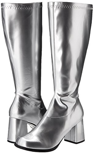 Ellie Shoes Women's Gogo Boot, Silver, 11 M US by Ellie Shoes (Image #6)
