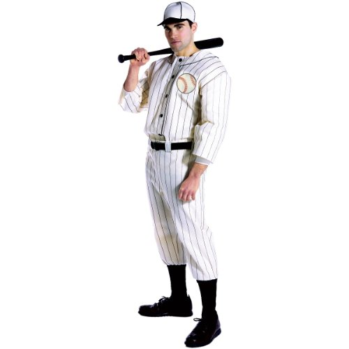 Old Tyme Baseball Player Adult Costume - One Size ()