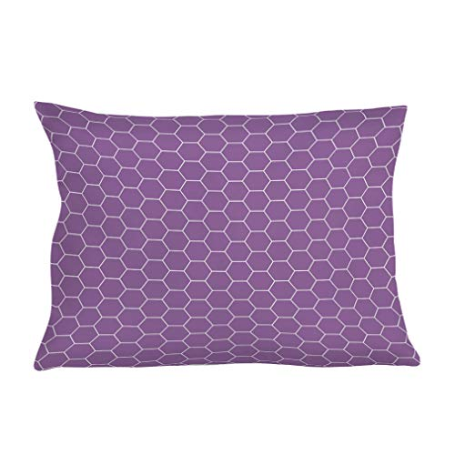 Personalized Pillow Case Honeycomb Purple White Style E Polyester Pillow Cover 20INx28IN Design Only Set of - Honey Personalized Purple