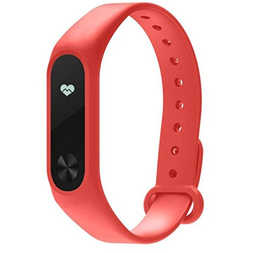 Price comparison product image Replacement TPU Wrist Strap Wrist Band,  Ninasill Exclusive For Xiaomi Mi Band 2 Smart Bracelet Strap (Red)