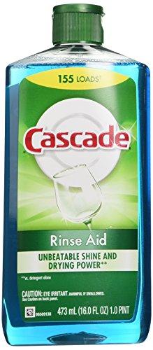 Cascade Rinse Aid, Dishwasher Rinse Agent, Original Scent, 16 Fl Oz (Dishwasher Crystals compare prices)