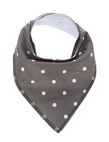 FadJollys Baby Bandana Drool Bibs 6 Pack for Boys and Girls, Hypoallergenic Soft Organic Cotton With Snaps for Teething Drooling, Unisex Baby Shower Gift, Newborn Registry Gift