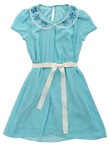 Buy belted chiffon shift dress - 5