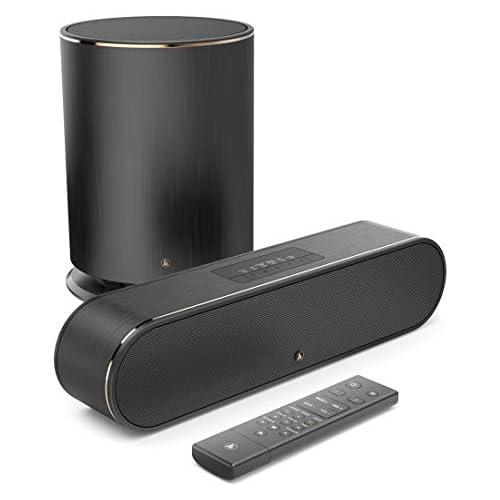 chollos oferta descuentos barato Hama Barra de Sonido para TV subwoofer con Sonido Dolby 2 1 Amazon Music Spotify Connect Bluetooth USB WLAN Altavoz para TV PC Juegos Compatible con Amazon Alexa Color Negro