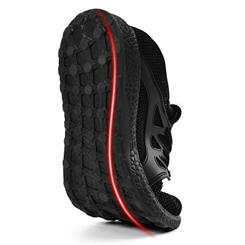 Noir Entraînement QANSI Bleu Sport 38 Lacet de Basket Chaussure Trail Running Sneaker Homme Sport 47 de Léger Noir Confort Homme Chaussures Fitness Respirante 11qrpxwB6