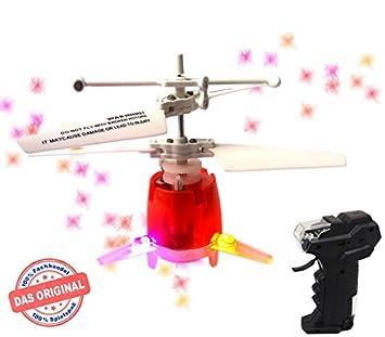 mindscope RC UFO Helicóptero - Micro dron Rojo.con luces LED Disco ...