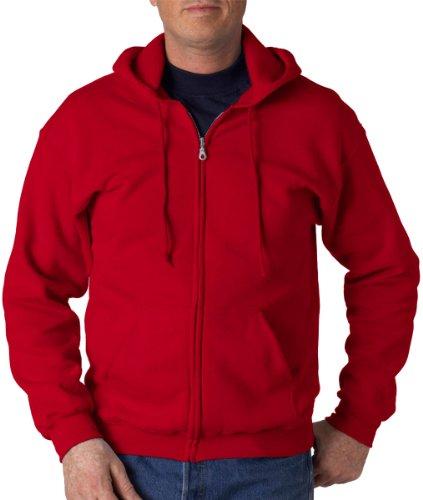 Gildan mens Heavy Blend 8 oz. 50/50 Full-Zip Hood(G186)-CARDINAL RED-4XL