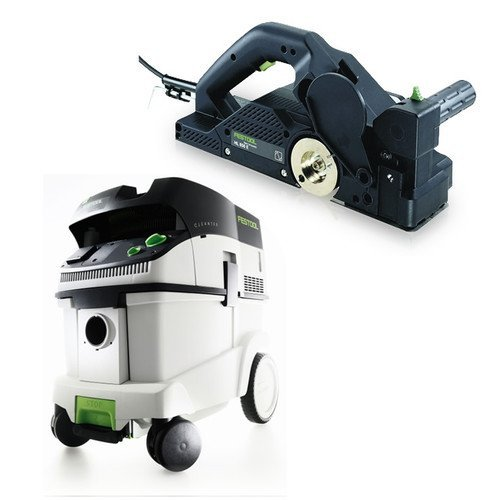 Festool P36574553 Planer with CT 36 E 9.5 Gallon HEPA Mobile Dust Extractor by Festool