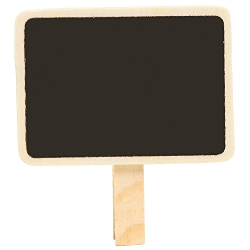 audiosharp 10 Pcs Mini Retangle Chalkboard with Wooden Blackboard Clip for Message Board Signs Wedding Party Decorations