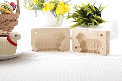Traditional Easter Wooden Butter Lamb Mold, Small