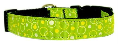 Mirage Pet Products Retro Nylon Ribbon Collar, X-Small, Lime Green from Mirage Pet Products