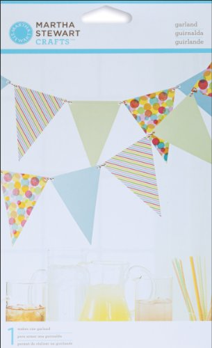 Martha Stewart Crafts Modern Festive Pennant Garland, 12ft