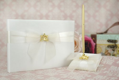 e Coach Wedding Guestbook and Pen Set (Silver/Gold): Set Color: IVORY/ GOLD Pen - Coach Color: GOLD (The Wedding Coach)
