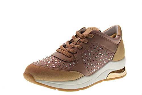 2702e4e734 Liu Jo Shoes Woman Low Sneakers with Wedge B19007 TX003 Karlie 12 Size 35  Pink