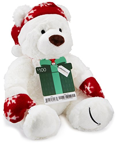 Amazon.com $100 Gift Card with a Holiday Teddy Bear - Limited Edition