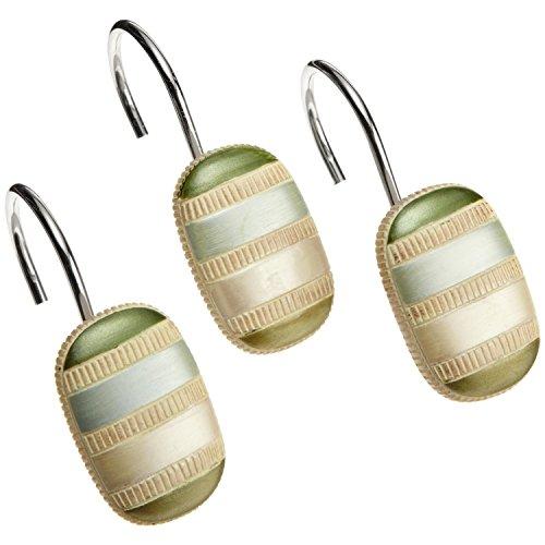 (DS BATH Tulip Tree Shower Curtain Hooks,Bathroom Curtain Hooks,Decorative Hooks for Shower Curtains,Set of 12)