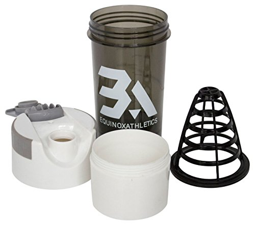 Equinox Athletics Cyclone Shaker Cup, Blender Bottle with Supplement Storage Compartment