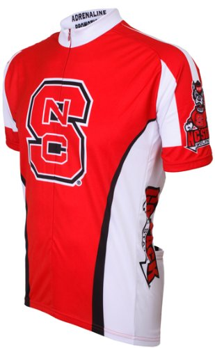 NCAA NC State Cycling Jersey,Medium, Red/White/Black