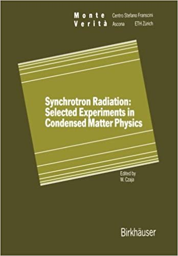 Synchrotron Radiation: Selected Experiments in Condensed Matter Physics (Monte Verita) (2013-10-04)
