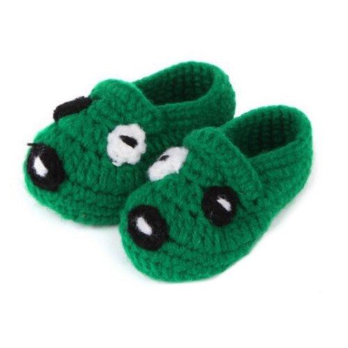 - Epic Baby Socks,FuzzyGreen Baby Socks Cute Puppy Dog Unisex Baby Newborn Infant Handmade Crochet Knitting Toddler Shoes Pre Walker Socks Booties(Dark Green)