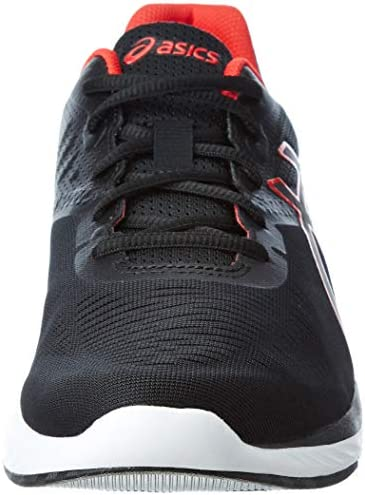 ASICS Gel-Promesa Herren Running Trainers T842N Sneakers Schuhe (UK 11 US 12 EU 46, Black red alert 001)