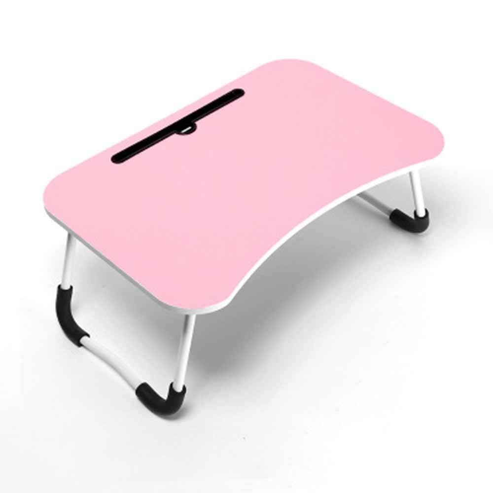 LIFUREN Computer Desk Simple Desk Reinforce Bed Small Table Simple Foldable Computer Desk (Color : B)