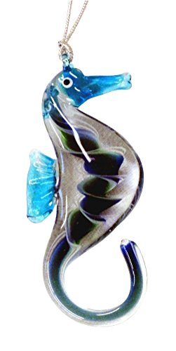 Dynasty Gallery Glass Seahorse Hanging Ornament