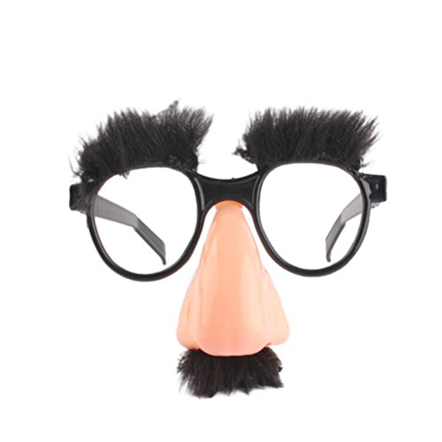 Toyvian Disguise Glasses - Classic Mustache Glasses Prop, Fuzzy Nose...