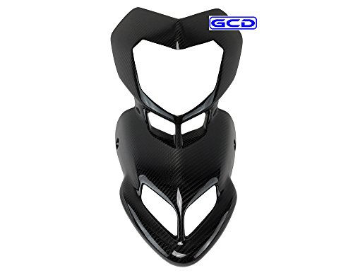 Ducati Hypermotard Upper Front Nose Mask Cowl Cowling Fairing 100% Twill Carbon ()