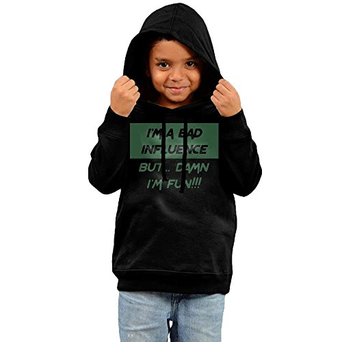 Price comparison product image Alexander Maia I Am A Bad Influence Hoody Kids Pollover Hoodie Cotton Sweatshirt Hooded